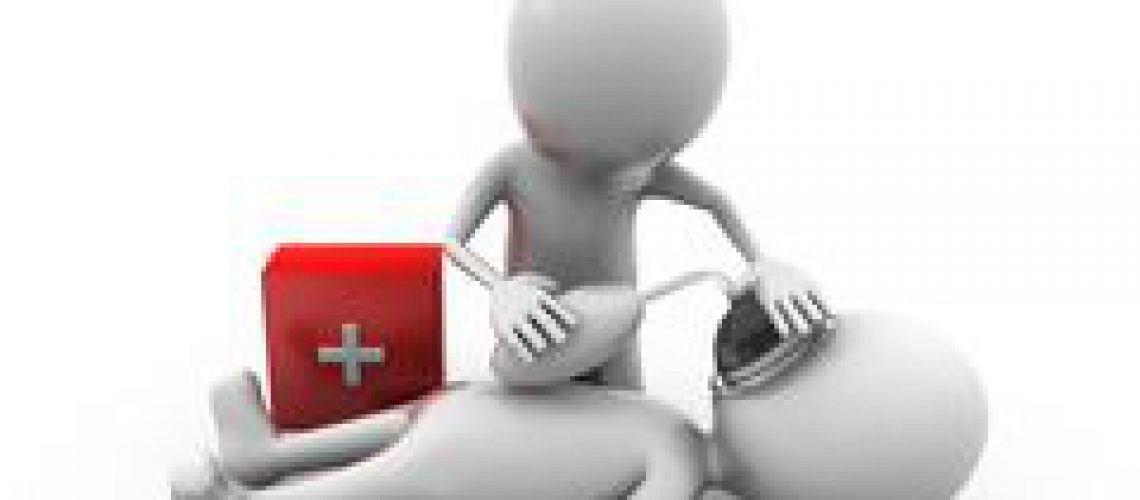 d-man-first-aid-concept-white-background-front-angle-view-46539074